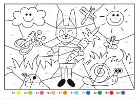 Coloriage Magique Chat Addition De 1 A 9 Bic Kids Enseignants